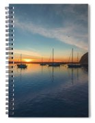 Sunset At Morro Bay Spiral Notebook