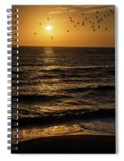 Sunrise Birds North Carolina Spiral Notebook
