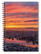 Sunset Explosion Over Lake Merritt Spiral Notebook