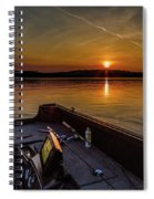 Sunset Fishing Dog Lake Spiral Notebook