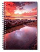 Sunset Harmony At Kiva Beach Spiral Notebook