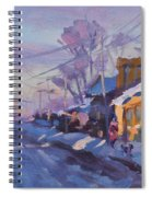 Sunset In A Snowy Street Spiral Notebook