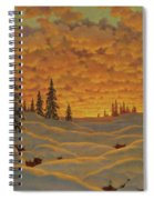Sunset In Finland  Spiral Notebook