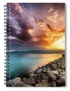 Sunset In Nafplio Spiral Notebook