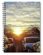 Sunset In Parking Lot 2 Spiral Notebook