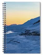 Sunset In The Arctic Spiral Notebook
