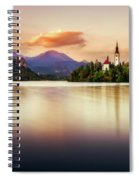 Sunset On Lake Bled Spiral Notebook