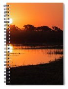 Sunset On The Chobe River Spiral Notebook