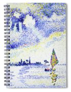 Sunset On The Lagoon, Venice - Digital Remastered Edition Spiral Notebook