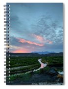 Sunset On The Rio Grande Spiral Notebook