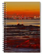 Sunset On The Still Frozen Upper Niagara River Spiral Notebook