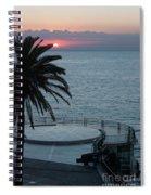 Sunset Over A Balcony Spiral Notebook
