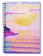 Sunset Over The Sea - Digital Remastered Edition Spiral Notebook