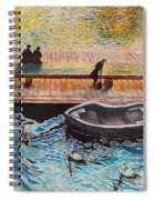 Sunset Scenery By Amsterdam Canal Spiral Notebook
