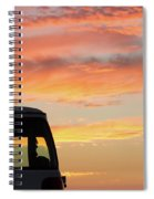 Sunset With The Van Spiral Notebook