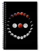 Super Blood Wolf Moon Eclipse Spiral Notebook