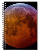 Super Wolf Blood Moon Lunar Eclipse Of 2019 Spiral Notebook