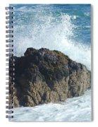 Surf On Rocks Spiral Notebook