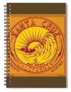 Surfing Santa Cruz California Steamer Lane Spiral Notebook