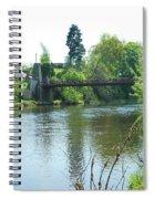 suspension bridge on river Teviot near Heiton Spiral Notebook