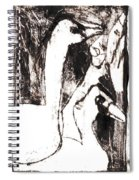 Swans After Mikhail Larionov Black Oil Painting 5 Spiral Notebook