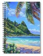 Swaying Palm On Makua Beach Spiral Notebook