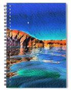 Swells And Reflections Lake Powell Spiral Notebook