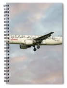 Swiss Star Alliance Livery Airbus A320-214 Spiral Notebook