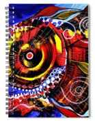 Swollen Red Cavity Fish Spiral Notebook