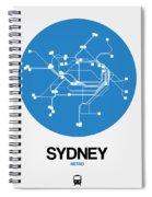 Sydney Blue Subway Map Spiral Notebook