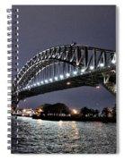 Sydney Harbor Bridge Night View Spiral Notebook