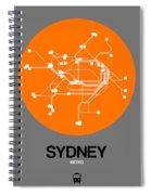 Sydney Orange Subway Map Spiral Notebook