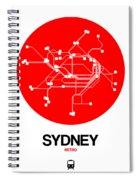 Sydney Red Subway Map Spiral Notebook