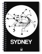 Sydney White Subway Map Spiral Notebook