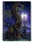 Sylvia And Her Lamp At Dusk Spiral Notebook