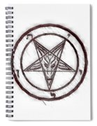 Symbol Of The Occult Spiral Notebook