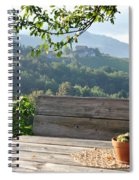 Table At The Vineyard Spiral Notebook