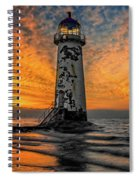Talacre Beach Lighthouse Sunset Spiral Notebook