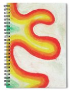 Tangerine Swoosh Spiral Notebook