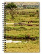 Tanzania Animal Landscape Spiral Notebook