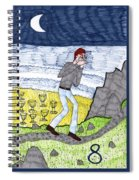 Tarot Of The Younger Self Eight Of Cups Spiral Notebook