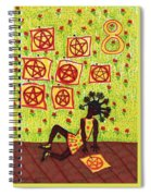 Tarot Of The Younger Self Eight Of Pentacles Spiral Notebook