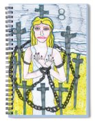 Tarot Of The Younger Self Eight Of Swords Spiral Notebook