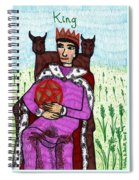 Tarot Of The Younger Self King Of Pentacles Spiral Notebook
