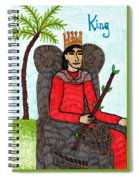 Tarot Of The Younger Self King Of Wands Spiral Notebook