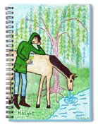 Tarot Of The Younger Self Knight Of Cups Spiral Notebook