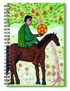 Tarot Of The Younger Self Knight Of Pentacles Spiral Notebook