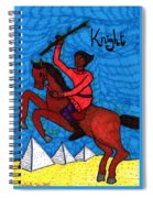 Tarot Of The Younger Self Knight Of Wands Spiral Notebook