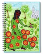 Tarot Of The Younger Self Nine Of Pentacles Spiral Notebook