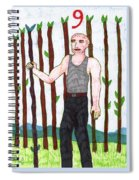 Tarot Of The Younger Self Nine Of Wands Spiral Notebook